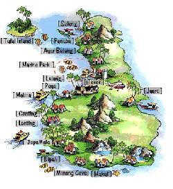 Tioman térképe